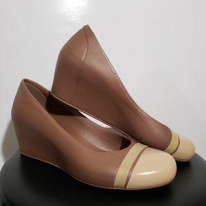 Crocs Cap Toe Wedge Sandals